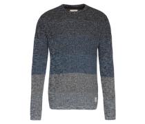 Farblich abgestufter Pullover blau