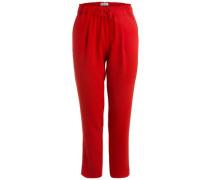 Einfarbige Knöchel Hose rot
