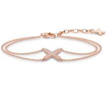 Armband 'A1659-416-14-L19v' rosegold / weiß