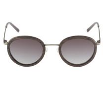 Sonnenbrille 'Berthold' mit Gestell-Elementen aus Schwarzholz dunkelbraun