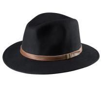 Hut mit hochschlagbarer Krempe schwarz