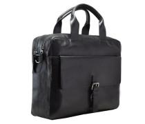 'Scott' Aktentasche Leder 40 cm Laptopfach schwarz