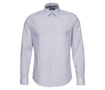 Langarmhemd weiß