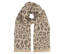 Schal mit Leoparden-Muster beige
