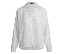 Bluse silber / weiß