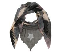 Schal mit Pailletten-Print und Farbverlauf creme / grau