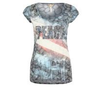 T-Shirt 'Miami round' blau / mischfarben