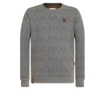 Male Sweatshirt 'Tinte Aufm Füller Iii' grau