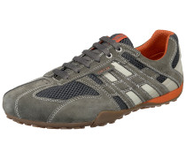 Schuhe 'Snake' schlammfarben / dunkelorange