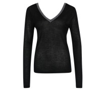 Edler V-Ausschnitt-Pullover 'VILoca' schwarz