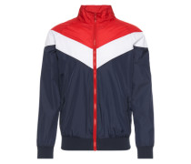 Übergangsjacke 'Arrow Zip Jacket' navy / rot / weiß