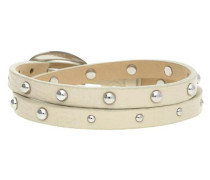 Armband 'Rock Rio' beige / silber