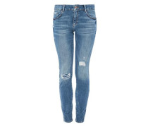 Shape Superskinny: Used-Jeans blue denim