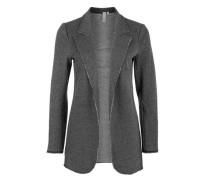 Sweat-Blazer im Long-Style schwarz