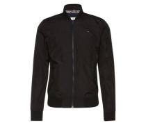 Jacke mit Rippstrick-Bündchen schwarz