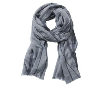 Schal aus weicher Viskose-Mischung blau