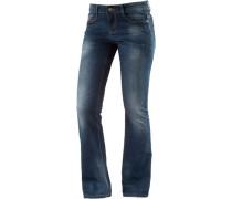 Tina Bootcut Jeans Damen blau