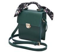 Detailreiche Handtasche smaragd