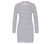 Kleid im Streifen-Design blau / weiß