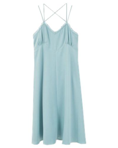 Kleid mit Gürtel blau