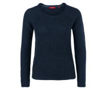 Pullover aus Musterstrick blau