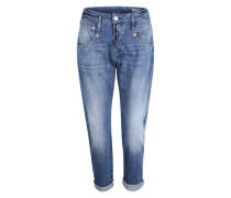'Shyra Cropped' Jeans in 3/4-Beinlänge hellblau