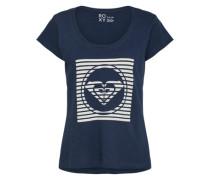 T-Shirt 'bobby A J Tees' dunkelblau / weiß