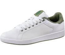 'Clean Court' Sneaker khaki / weiß
