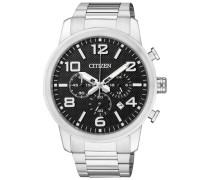 Chronograph mit Datum »An8050-51E« schwarz / silber