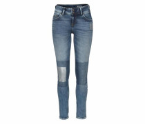 High-waist-Jeans blue denim