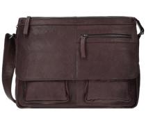 Bronco Messenger Bag Leder 34 cm braun