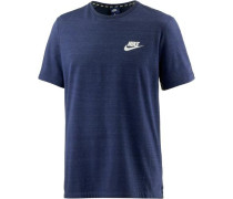 T-Shirt Herren dunkelblau / weiß