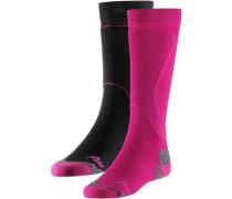 MW Tech PRO 2er Pack Snowboardsocken pink