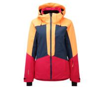 Sportfunktionsjacke 'Kate' dunkelblau / pink / orangerot