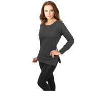 Damen ' Ladies Side Zip Long Crewneck '