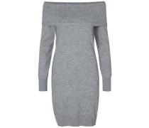 Detailreiches Kleid mit langen Ärmeln grau