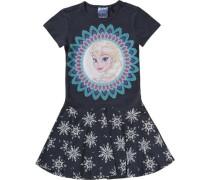 Disney DIE Eiskönigin Kinder Jerseykleid mit... blau