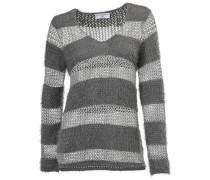 V-Pullover grau