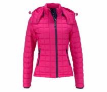 Steppjacke 'Fuji' pink / schwarz
