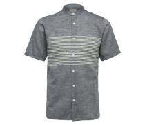 Kurzarmhemd creme / basaltgrau