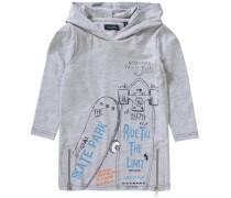 Langarmshirt mit Kapuze für Jungen hellblau / grau / hellorange / schwarz
