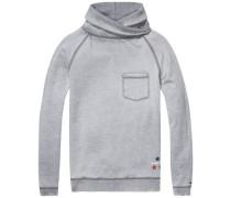 Hilfiger Denim Sweatshirt 'thdm Burnout FN Hknit L/S 19' grau