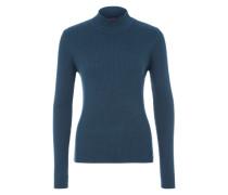 Geripptes Shirt blau
