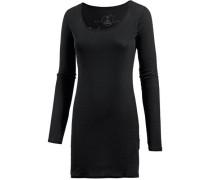 'Zena' Micro Rib Jerseykleid Damen schwarz