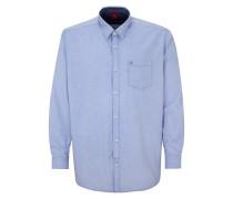 Klassisches Baumwollhemd blau