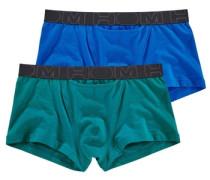 Boxer (2 Stück) blau / dunkelgrün