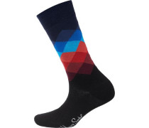 ein Paar Socken blau / rot / schwarz