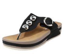 Sandale mit Metalldetails schwarz