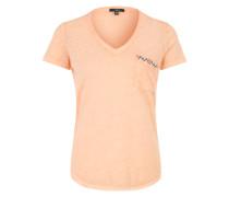 T-Shirt mit Stickerei orange
