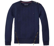 Sweatshirt »Cable Quilted CN HWK L/s« navy